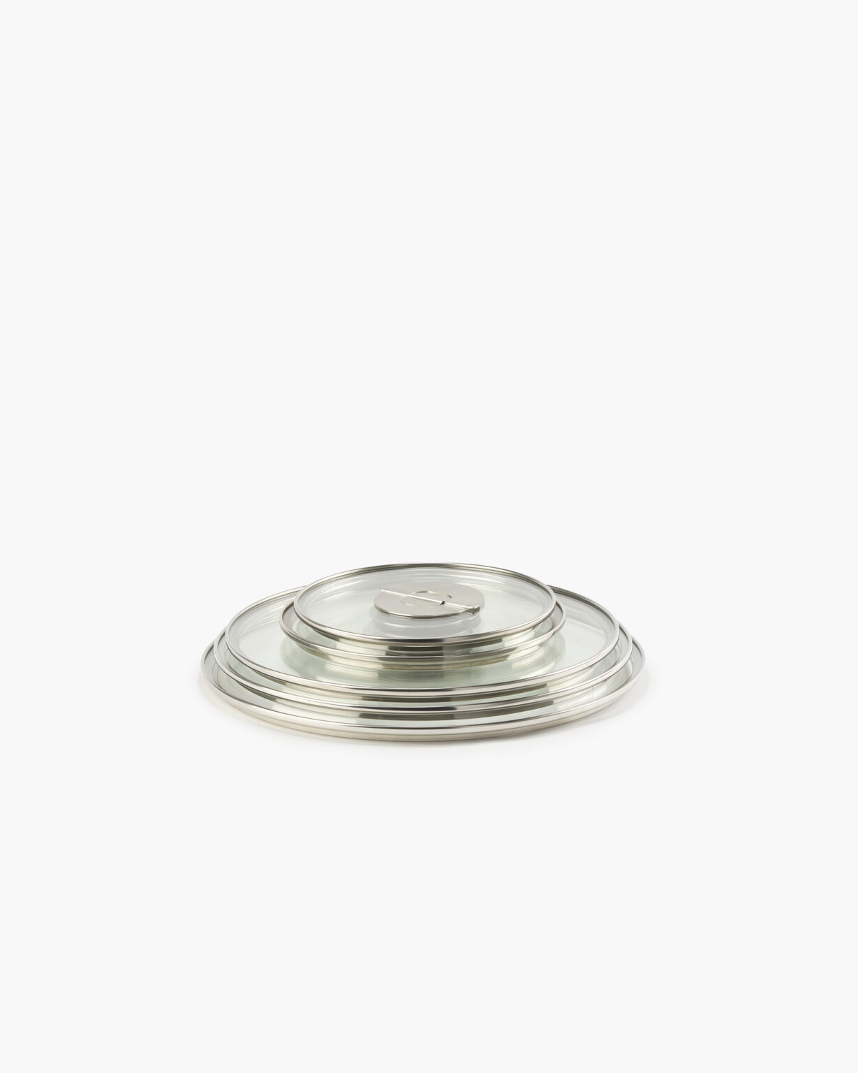 ENSEMBL Stackware Full6 Stainless Steel Fully Clad Cookware Flat Lying Lids