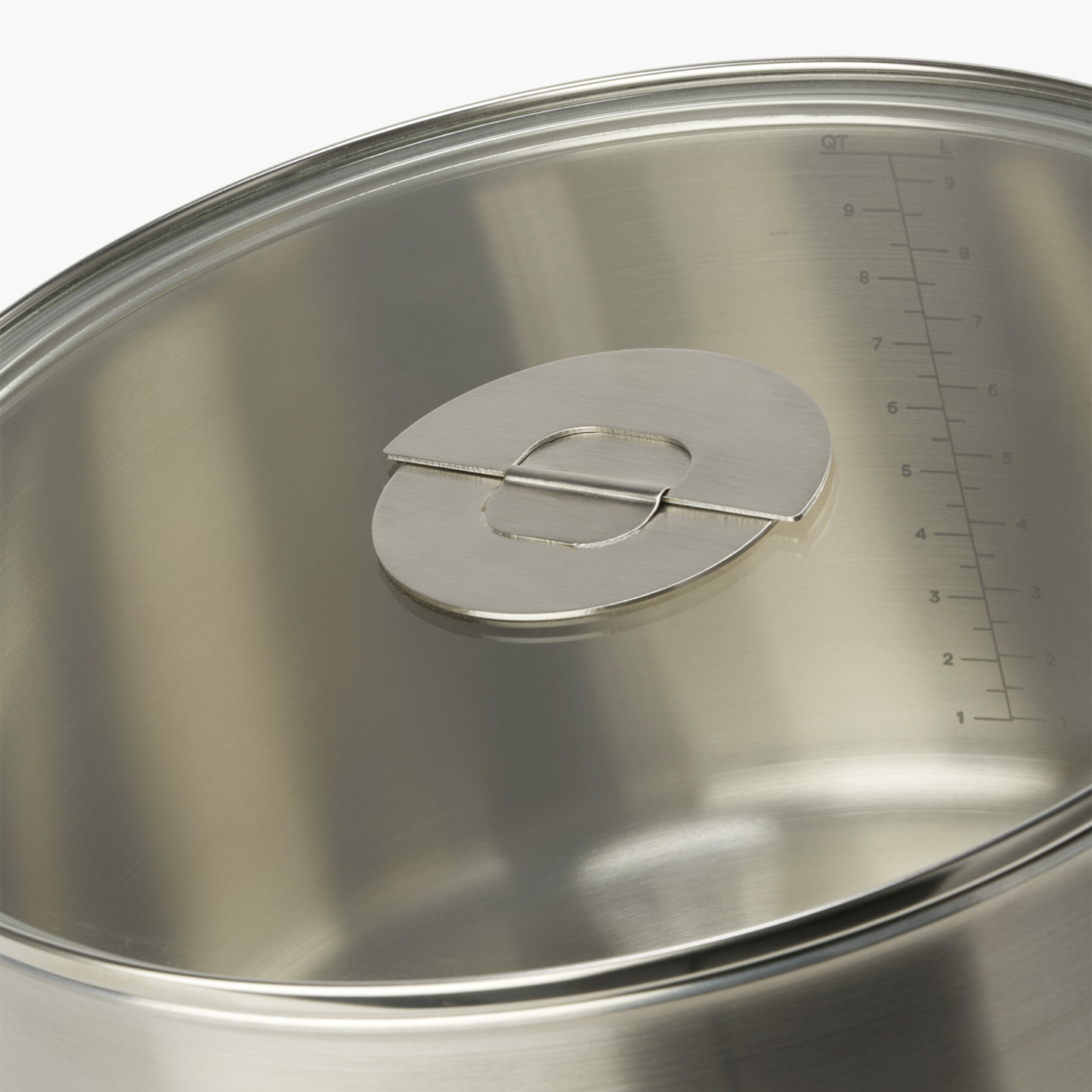 ENSEMBL Stackware Stockpot Metric and Imperial Measurements Flat Lying Lid