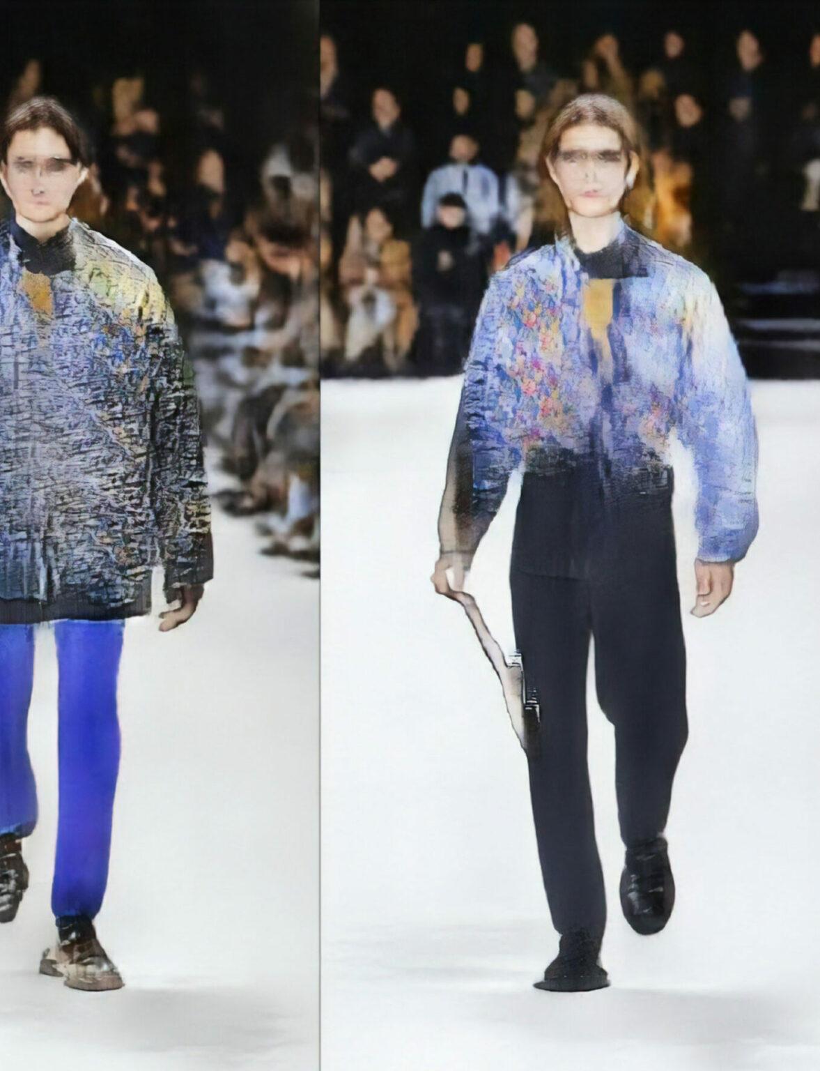Robbie Barrat Balenciaga AI Fashion Runway Design