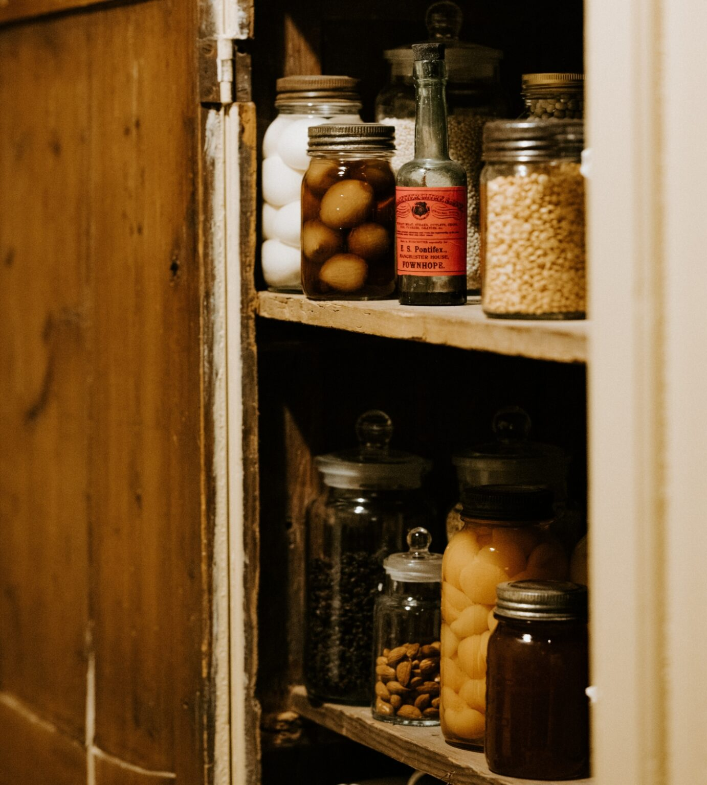 Jars in the pantry