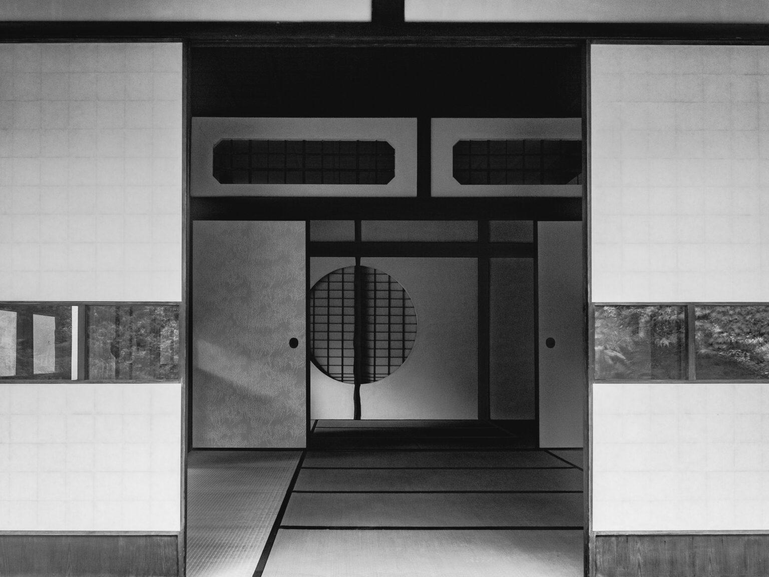 Japanese home tatami mats and screens