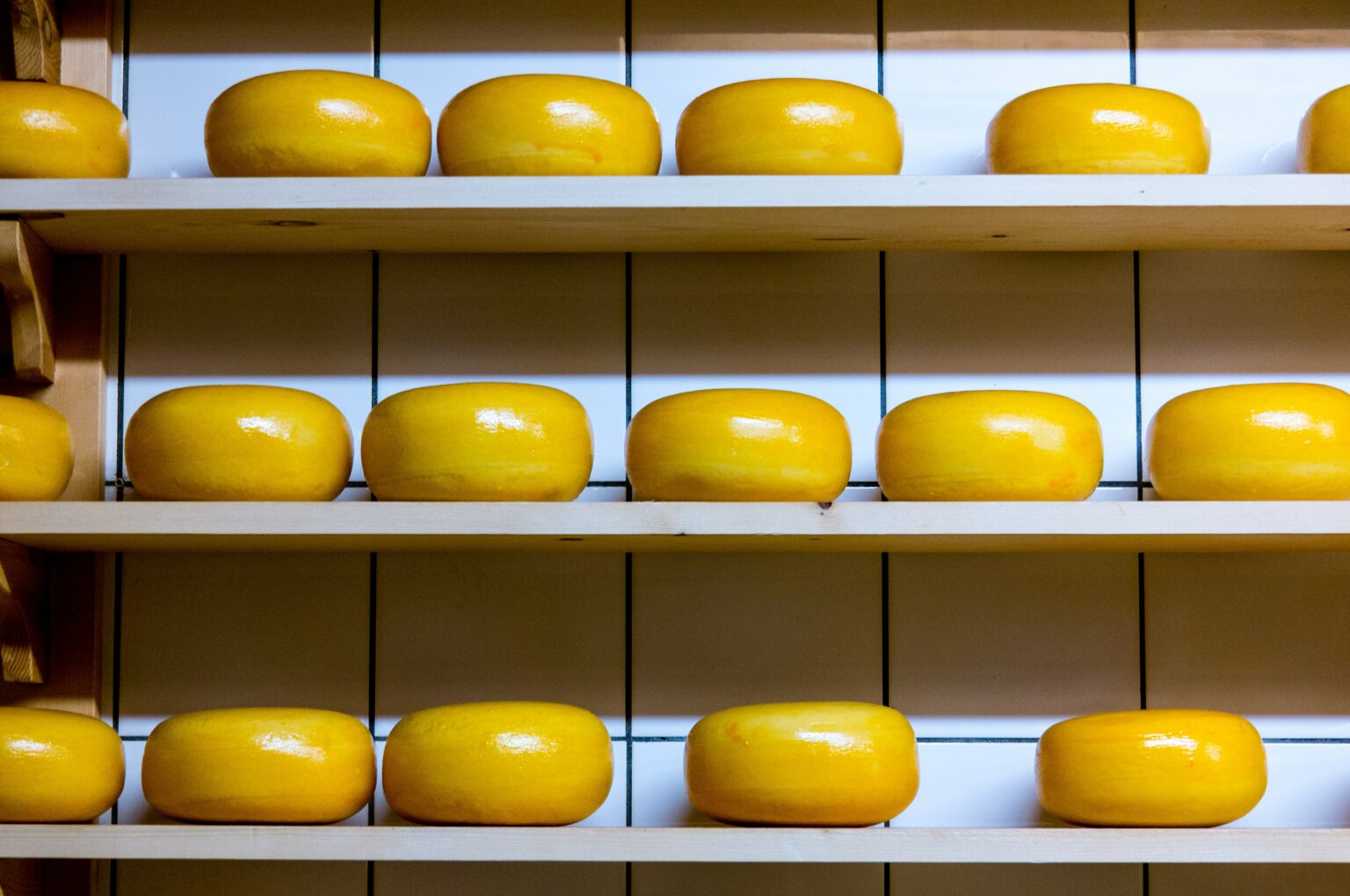 Cheese in a pantry