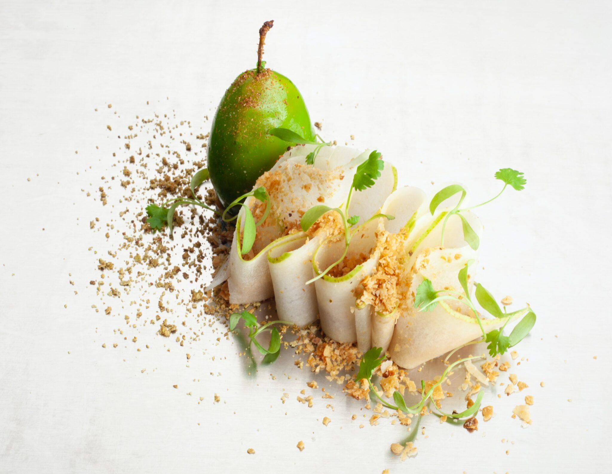 Beautiful presentation fine dining Michelin starred meal pear food porn