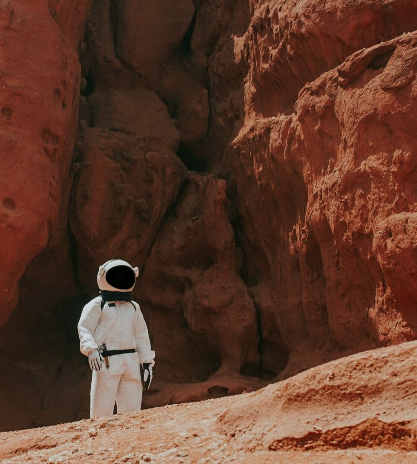 Seeing Space Differently Astronaut on Mars exploring