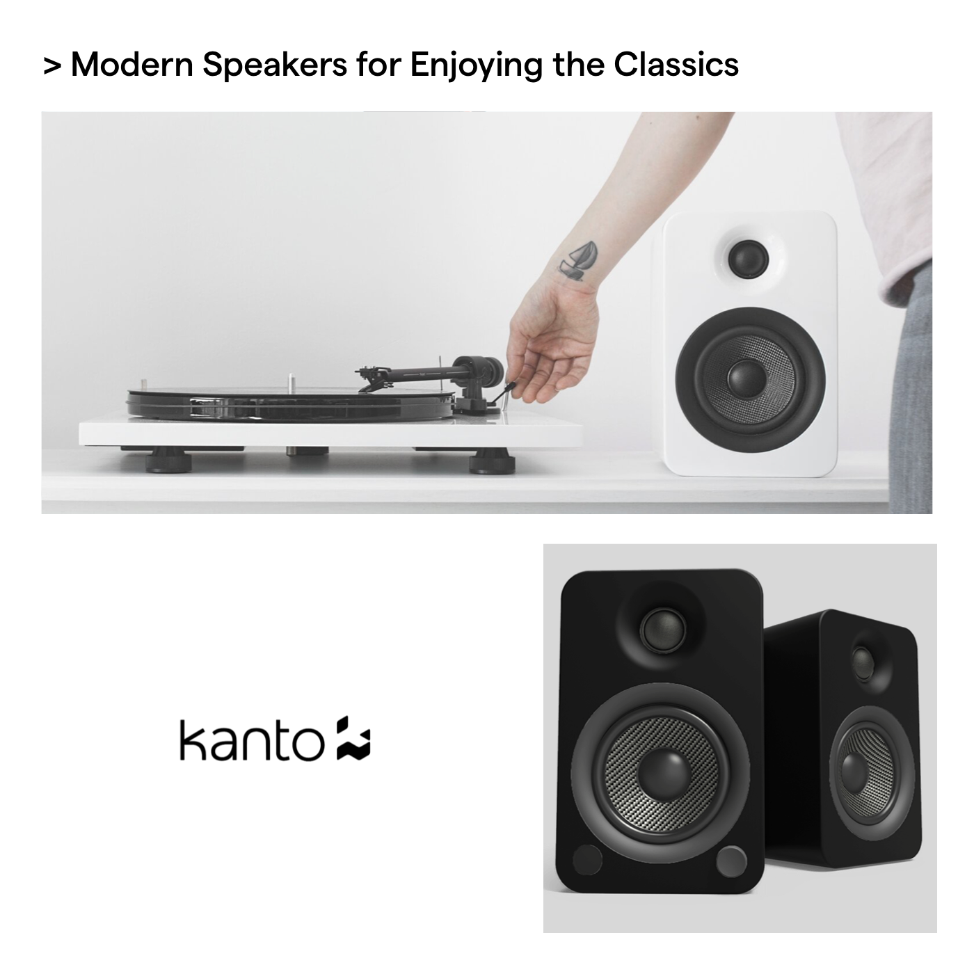 kanto audio speakers father's day advanced essentials gift guide
