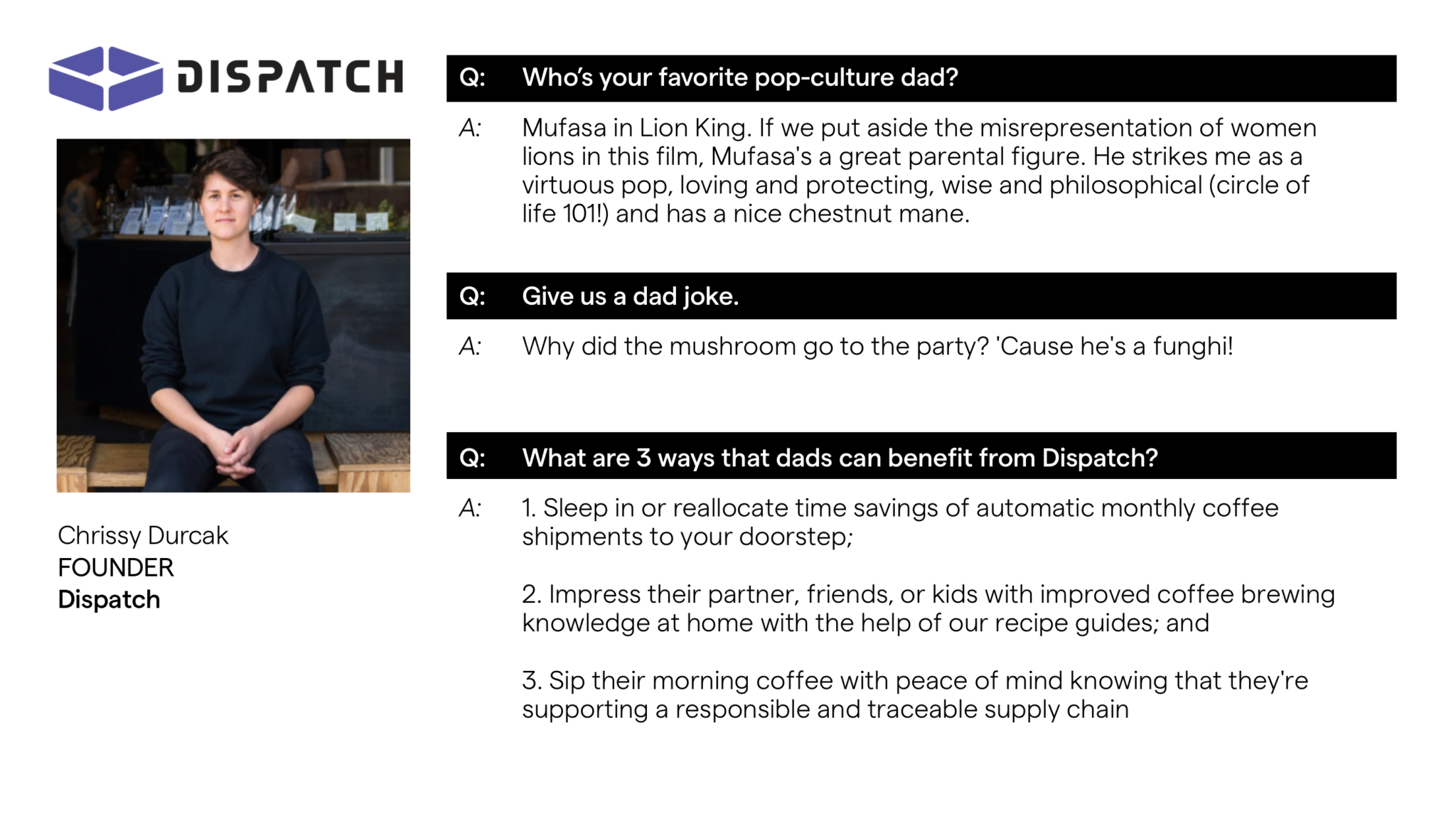 Chrissy Dispatch Founder Advanced Essentials Father's Day Gift Guide
