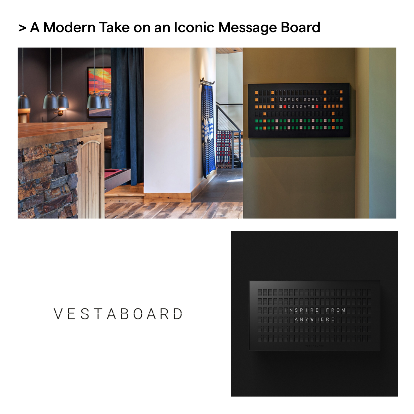 Vestaboard father's day advanced essentials gift guide