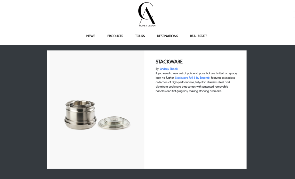 California Home+Design ENSEMBL Stackware Product of the Day