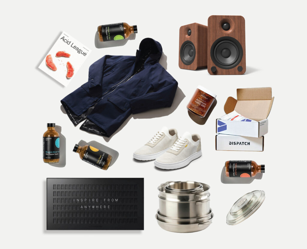 Father's Day Gift Guide Advanced Essentials ENSEMBL CASCA Acid League Vestaboard Kanto Baro Dispatch Coffee