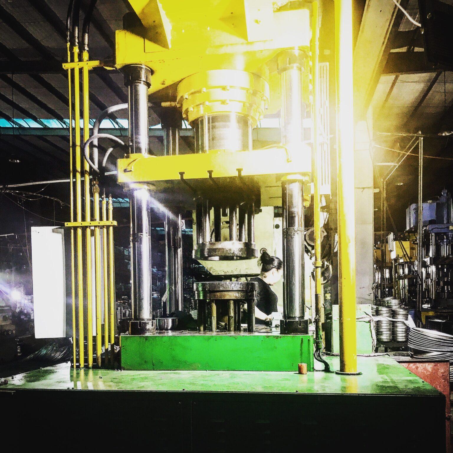 yellow industrial machinery
